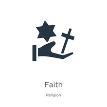 Faith Icon Vector. Trendy Flat...