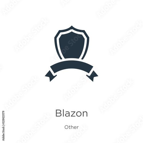 Blazon icon vector Wallpaper Mural