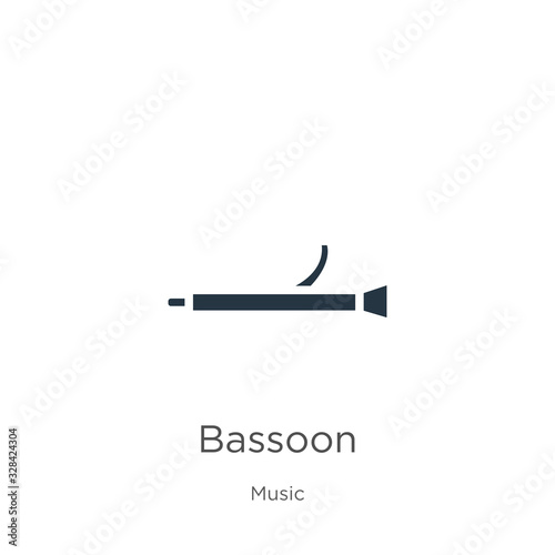 Bassoon icon vector Wallpaper Mural