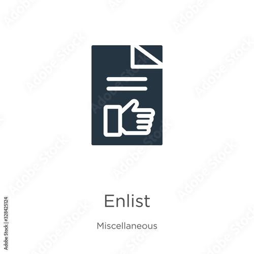 Enlist icon vector фототапет