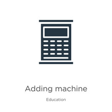 Adding Machine Icon Vector. Tr...