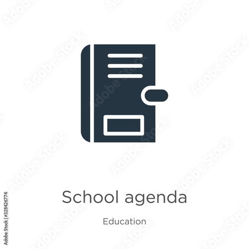 School agenda icon vector Wallpaper Mural