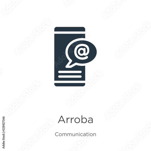 Photo Arroba icon vector