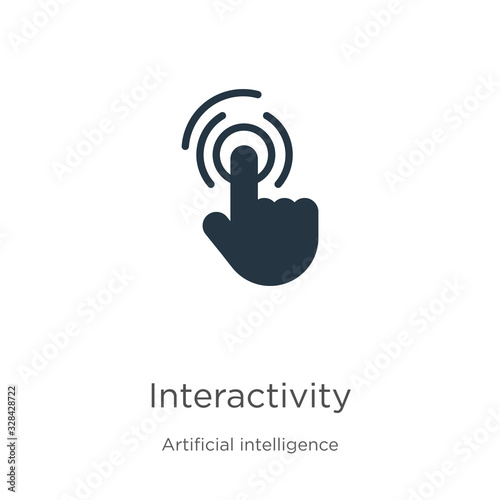 Interactivity icon vector. Trendy flat interactivity icon from augmented reality collection isolated on white background. Vector illustration can be used for web and mobile graphic design, logo, eps10