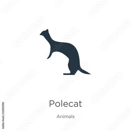 Polecat icon vector Tapéta, Fotótapéta