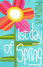 1st Day Of Spring Illustration...