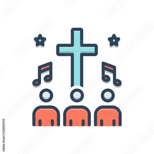 Fotomural Color illustration icon for hymn