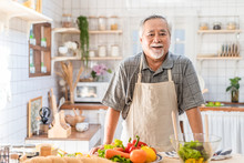 Senior Asian Elder Man Happy L...