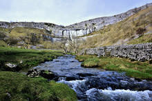Malham Beck As It Runs From The Cove And Along Malhamdale.