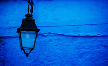 Old Street Lamp On The Wall, C...