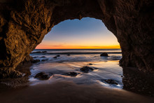 Sunset From The Sea Cave