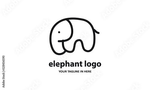 The concept of modern Sderhana elephant logo design is easy to remember Wallpaper Mural