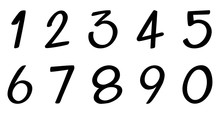 Font Design For Number One To ...