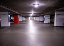 Bright Underground Parking Lot...