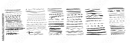Obraz Hand drawn lines set - fototapety do salonu