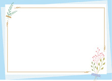 Decorative Frame.A Good Frame For Writing With Stationery Or Notepaper Background.Decorated Background.Good Background For Writing.Background Image.