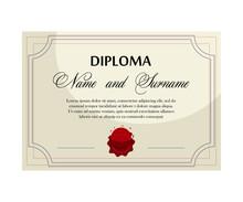 Graduation Diploma With Studen...