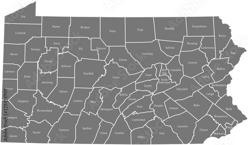 Fotografija map of Pennsylvania