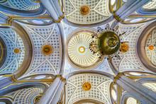 Basilica Ornate Colorful Ceili...