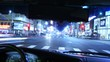 Driving POV Time Lapse Drivers View Hollywood Night