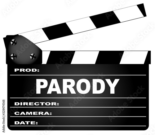 Photo Parody Movie Clapperboard