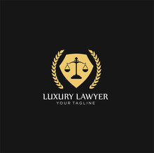 Creative Law Concept Logo Desi...