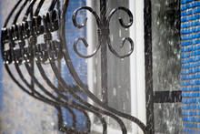 Ornate Wrought Iron At The Win...