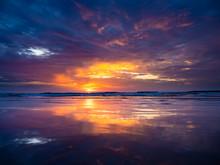 Sunset At Kuta Beach In Bali
