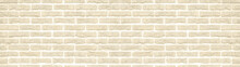 Beige White Light Rustic Brick Wall Texture Background Banner