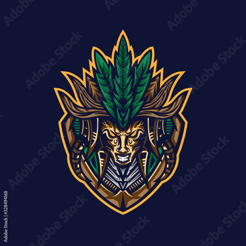Photo Tribe tribal mascot logo. Vector illustration