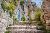 Fototapeta Na drzwi - narrow street in old mediterranean town in springtime