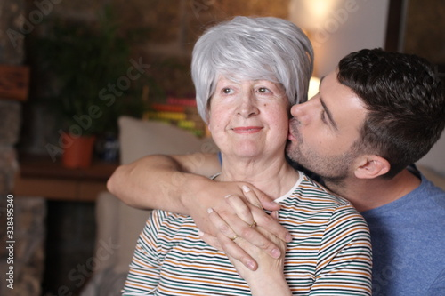 Fotografie, Tablou Couple with a considerable age difference