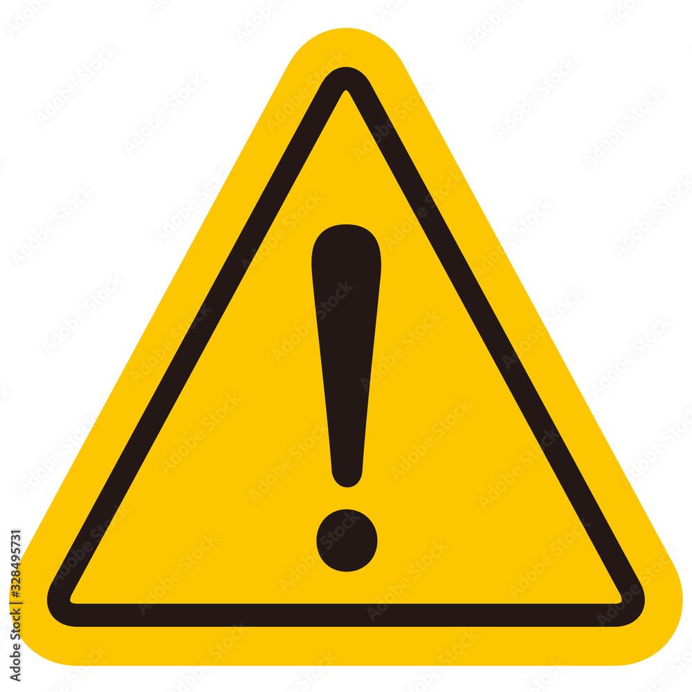 Fototapeta hazard sign icon vector triangle