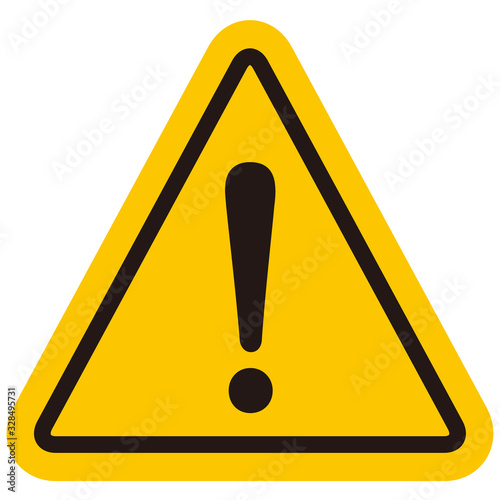Photo hazard sign icon vector triangle