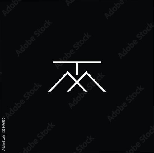 Obraz na plátně Initial based modern and minimal Logo
