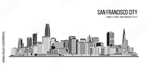 Photo Cityscape Building Abstract Simple shape and modern style art Vector design - Sa