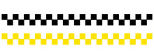 Taxi Icon Set In Flat Style In...