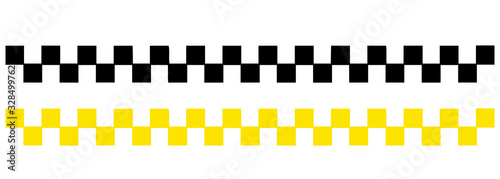 Photographie Taxi icon set in flat style in isolate on a white background