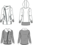Garment Sketch Jacket Sportswe...