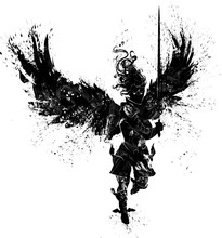 The Silhouette Of An Angel Of ...