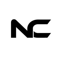 Initial 2 Letter Logo Modern Simple Black NC