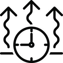 Quick Drying Icon, Vector Illustration