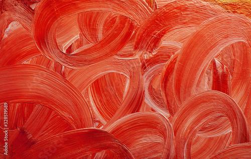 Fototapeta paint brush stroke red curves obraz