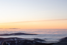 View To Sunrise With Inversion...