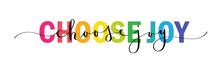 CHOOSE JOY Vector Rainbow-colo...
