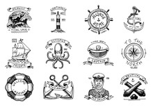 Marine And Nautical Emblems. S...