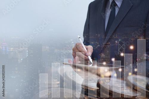 Fototapeta Finance investment obraz na płótnie