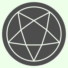 Pentagram Solid Icon. Mystical...