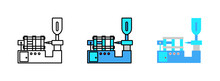 Injection Molding Icon Isolate...
