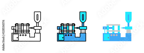 Fotografie, Tablou injection molding icon isolated on white background for web design